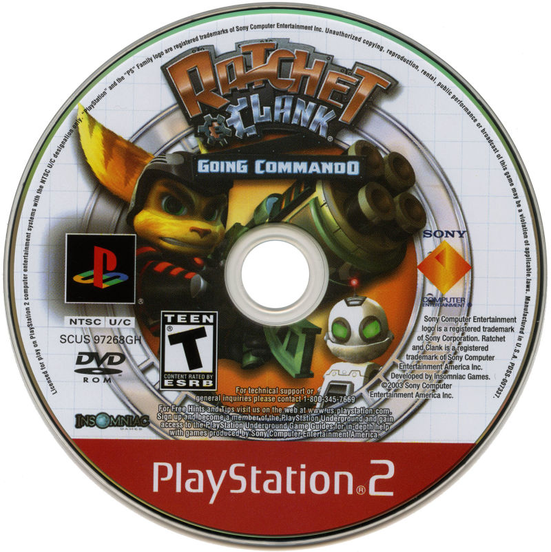 Ratchet & Clank: Going Commando PlayStation 2 Media