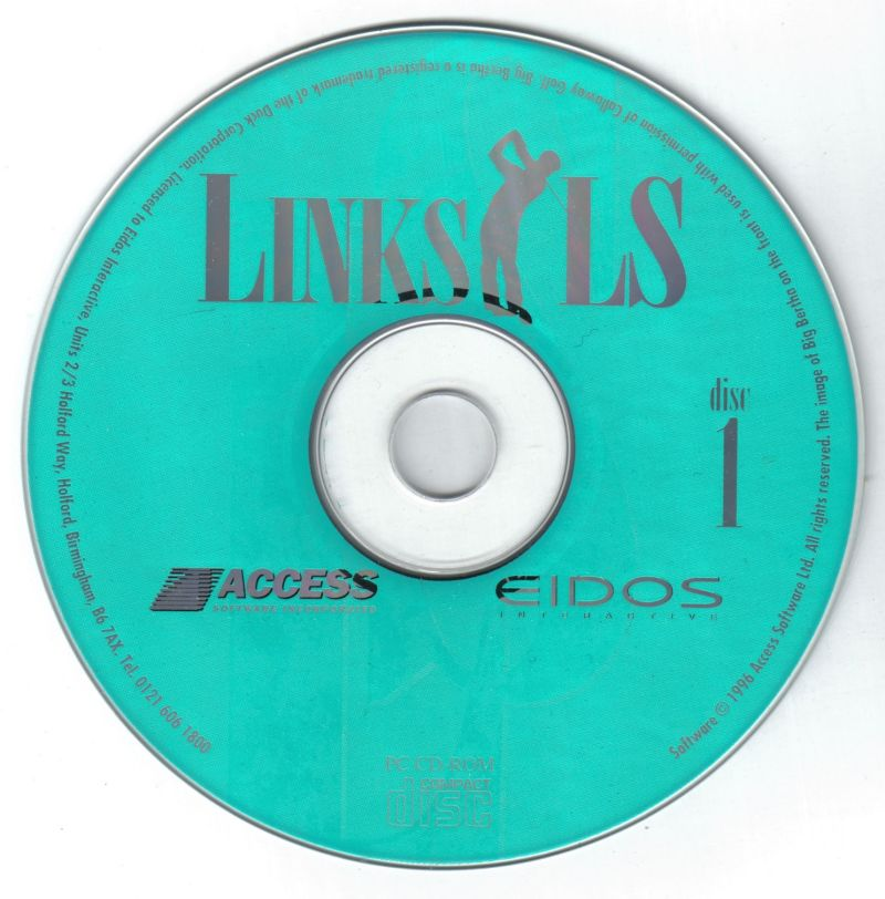 Links LS Legends In Sports '97: Limited Edition DOS Media Disc 1