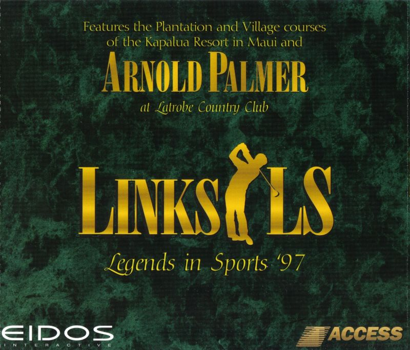 Links LS Legends In Sports '97: Limited Edition DOS Other Jewel Case: Front