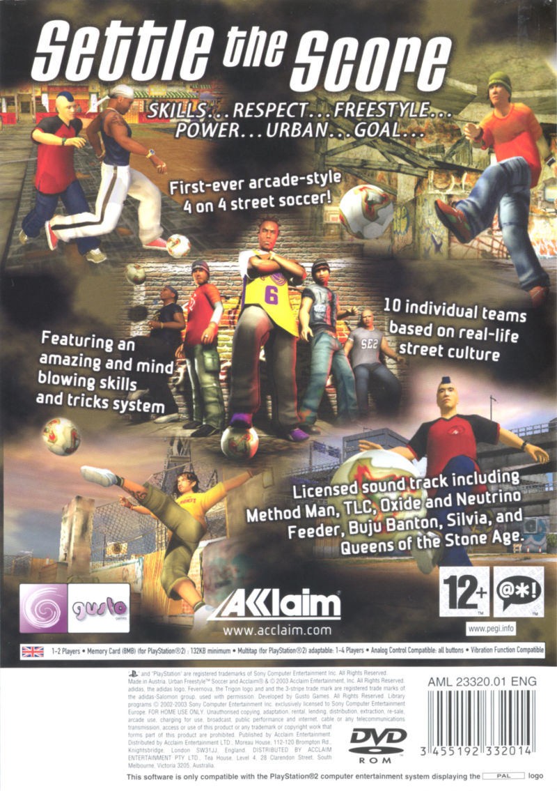 Freestyle Street Soccer PlayStation 2 Back Cover