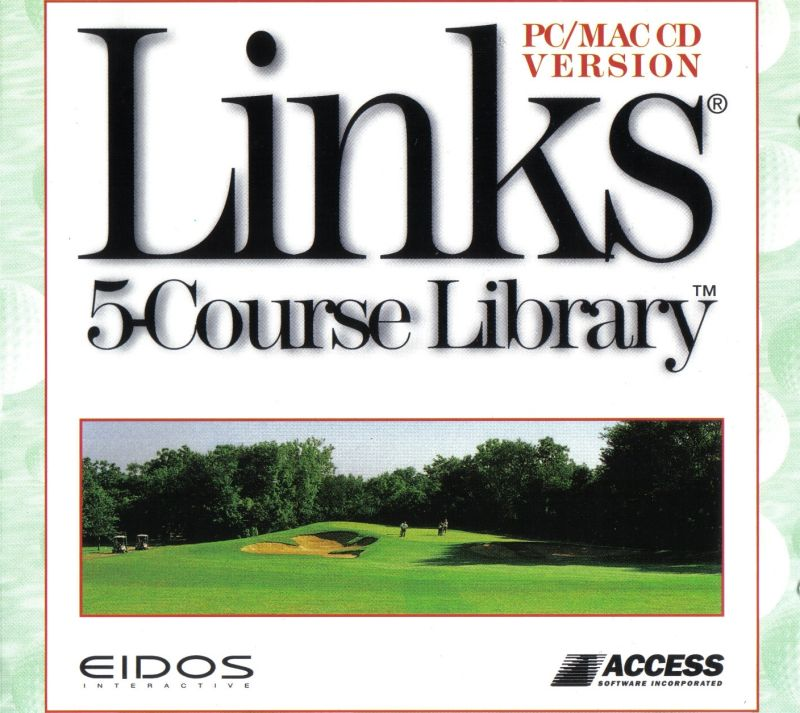 Links: 5-Course Library - Volume 1 DOS Other Jewel Case - Front