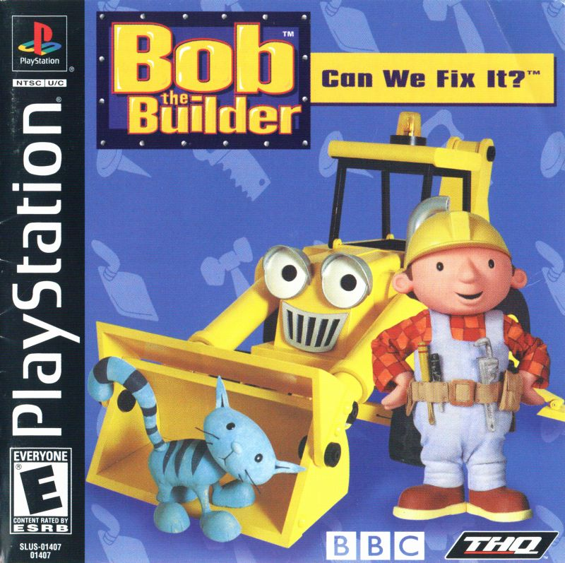 Bob the Builder: Can We Fix It? PlayStation Front Cover