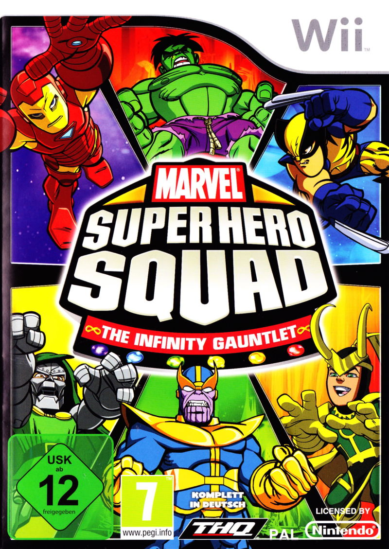 Marvel Super Hero Squad: The Infinity Gauntlet Wii Front Cover