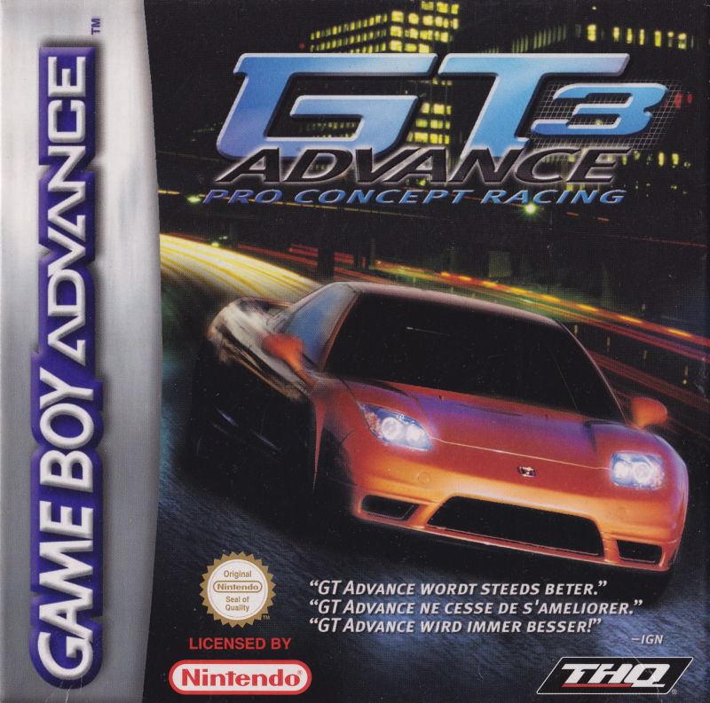 GT Advance 3: Pro Concept Racing Game Boy Advance Front Cover
