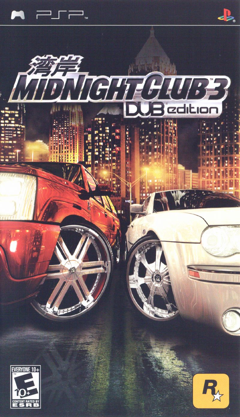 Midnight Club 3: DUB Edition PSP Front Cover