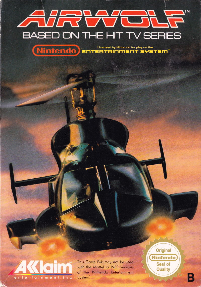 Airwolf NES Front Cover