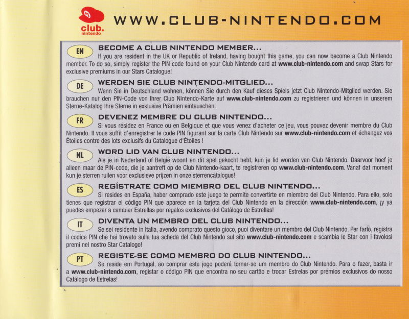 Mario Party DS Nintendo DS Inside Cover Right