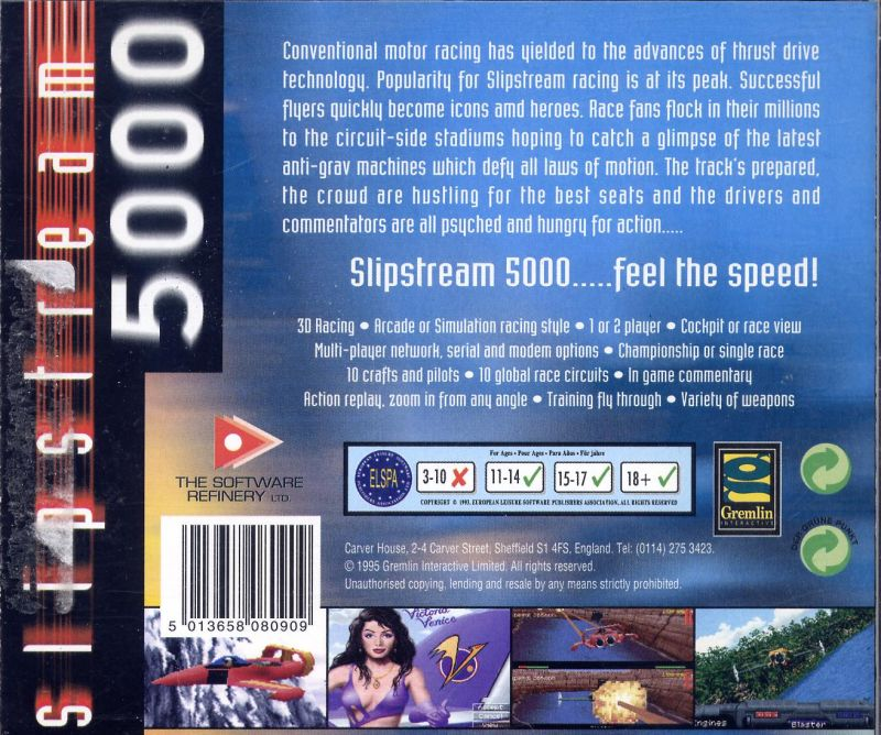 Slipstream 5000 DOS Back Cover
