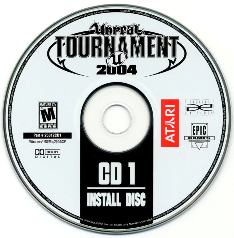 Unreal Tournament 2004 Linux Media Install Disc 1/5