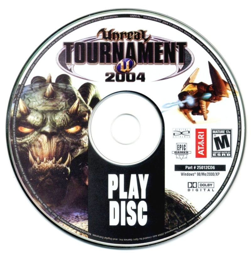 Unreal Tournament 2004 Linux Media Play Disc