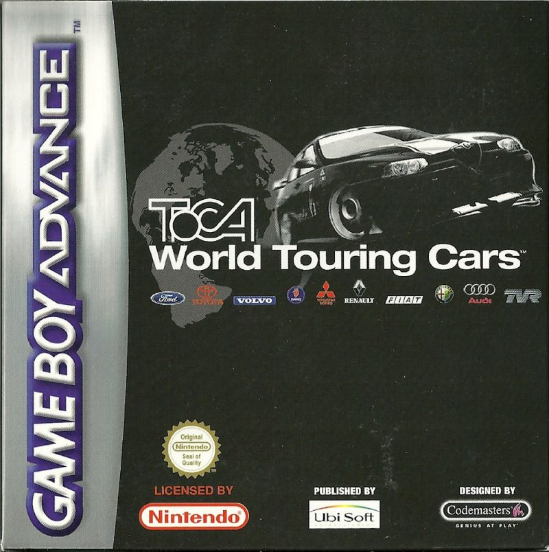 TOCA: World Touring Cars Game Boy Advance Front Cover