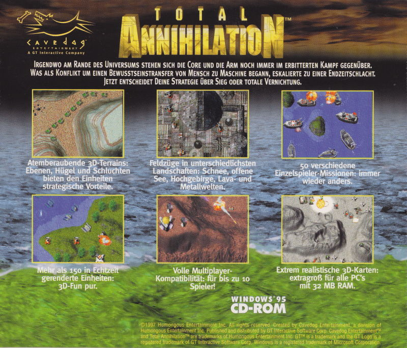 Total Annihilation Windows Other Jewel Case - Back