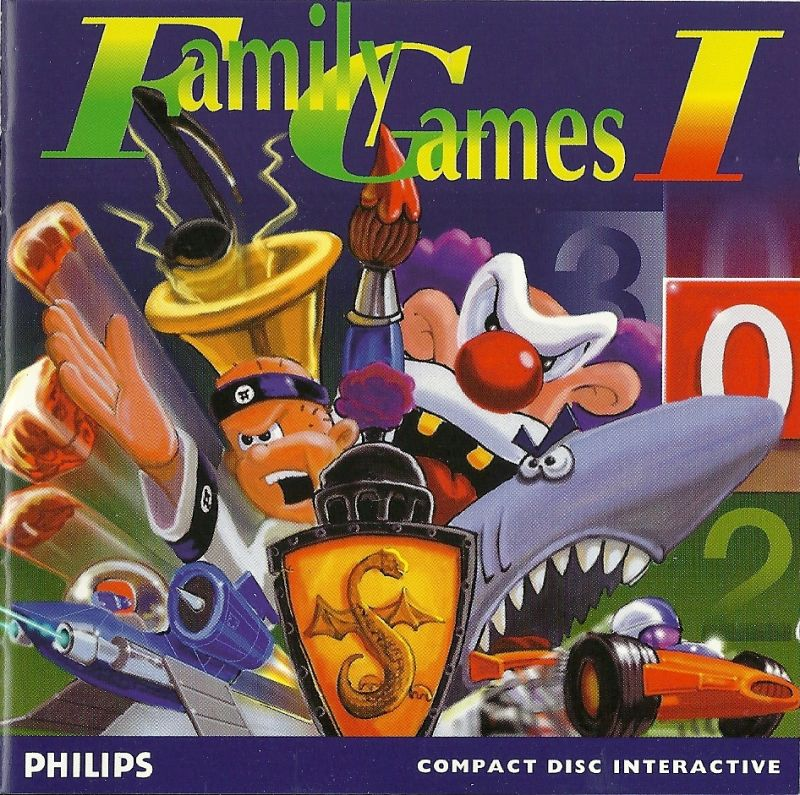 Family Games I CD-i Front Cover