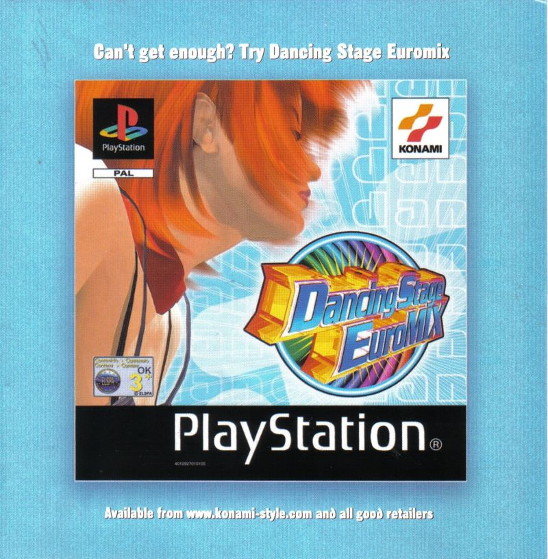 Dancing Stage Party Edition PlayStation Inside Cover