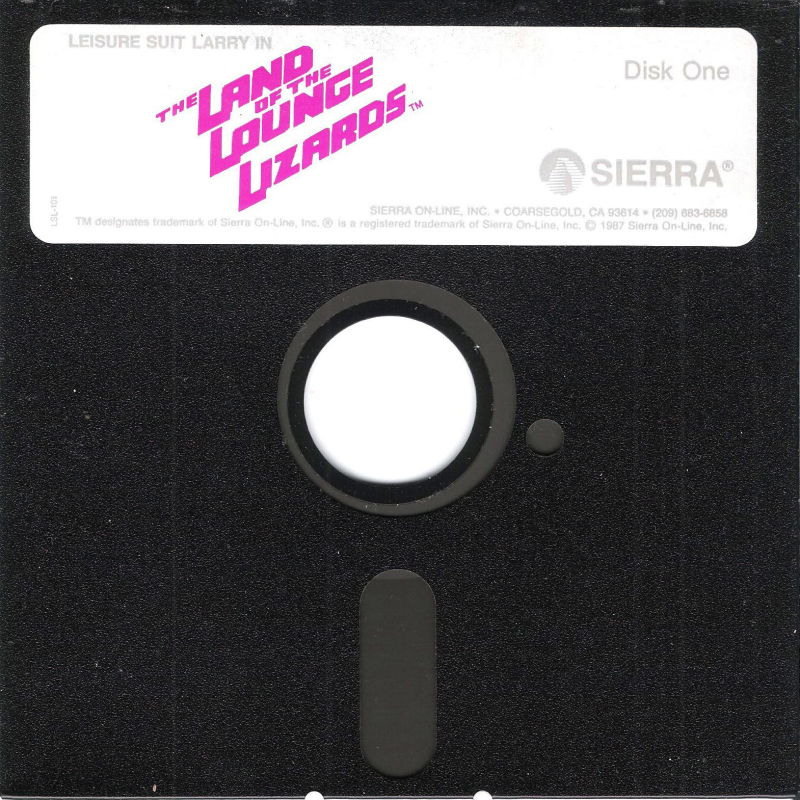 """Leisure Suit Larry in the Land of the Lounge Lizards DOS Media 5.25"""" Disk (1/2)"""