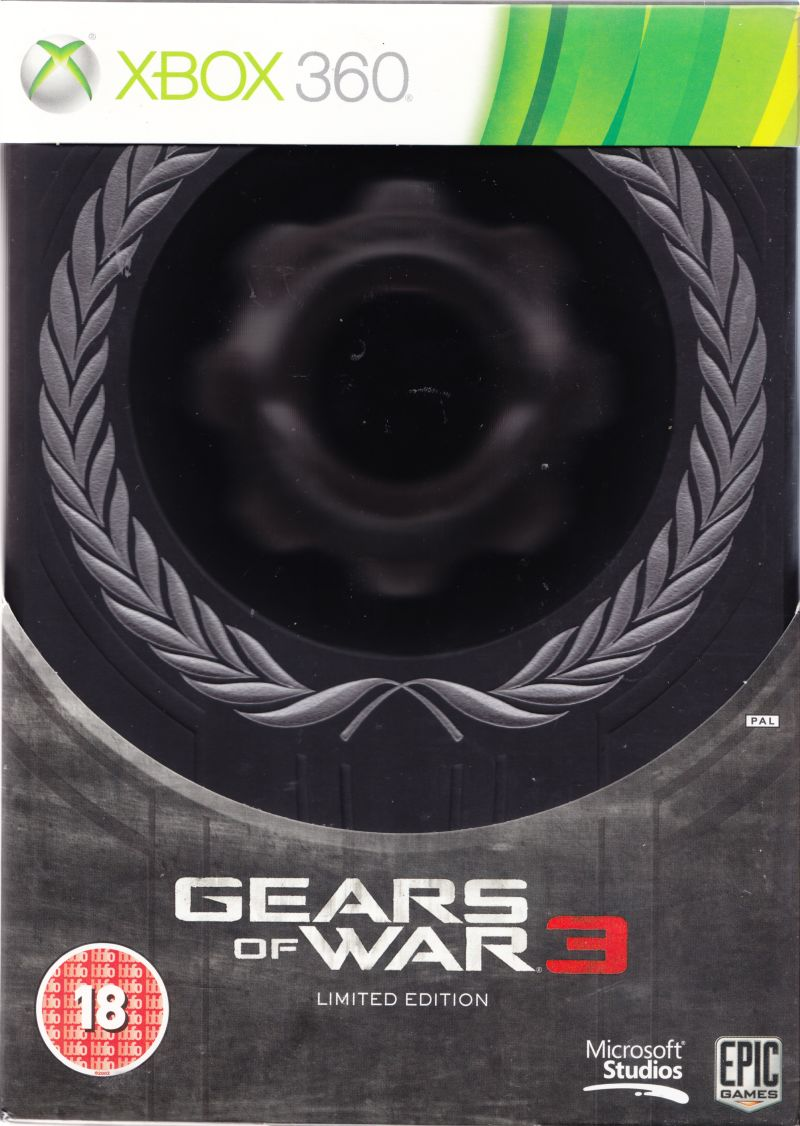 Gears of War 3 (Limited Edition) Xbox 360 Front Cover