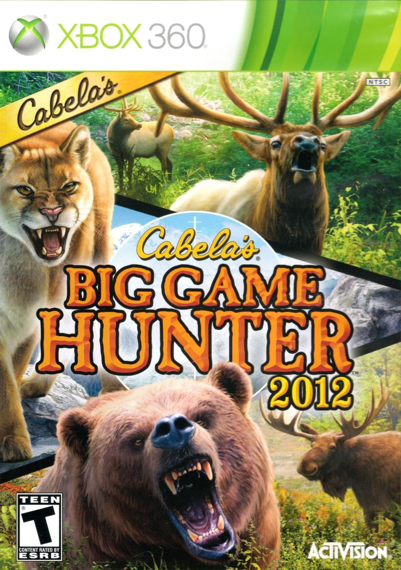 Cabela's Big Game Hunter 2012 Xbox 360 Front Cover