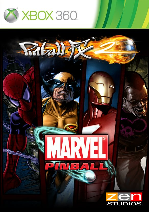Marvel Pinball Xbox 360 Front Cover