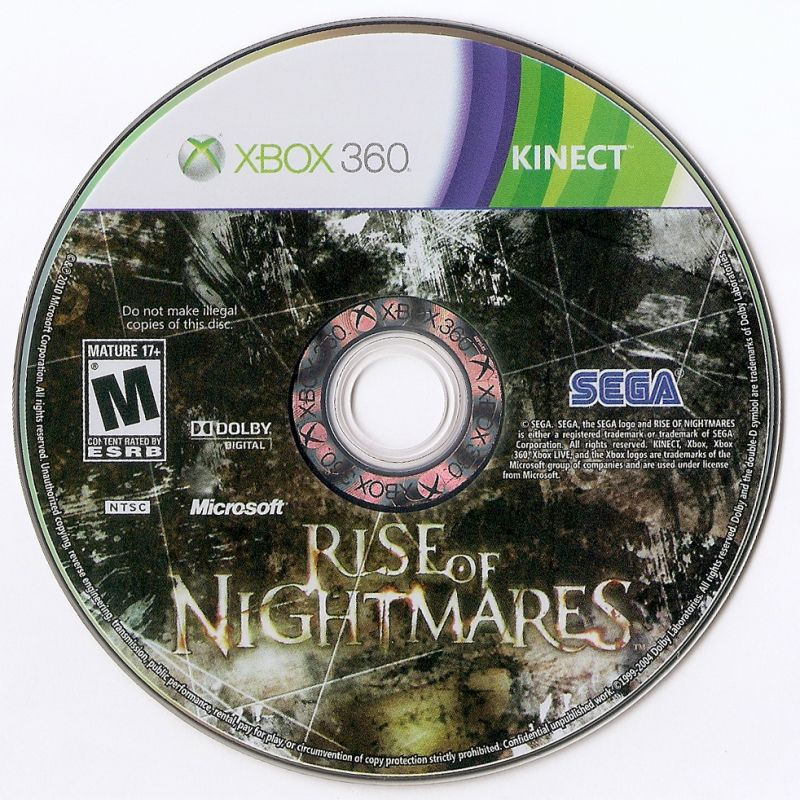 Rise of Nightmares Xbox 360 Media