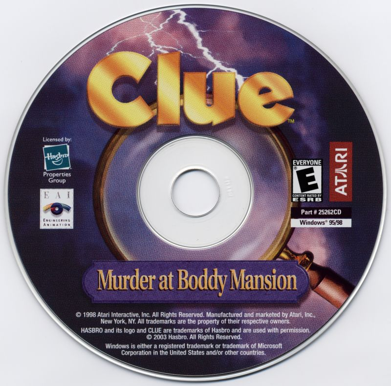 Clue: Murder at Boddy Mansion Windows Media