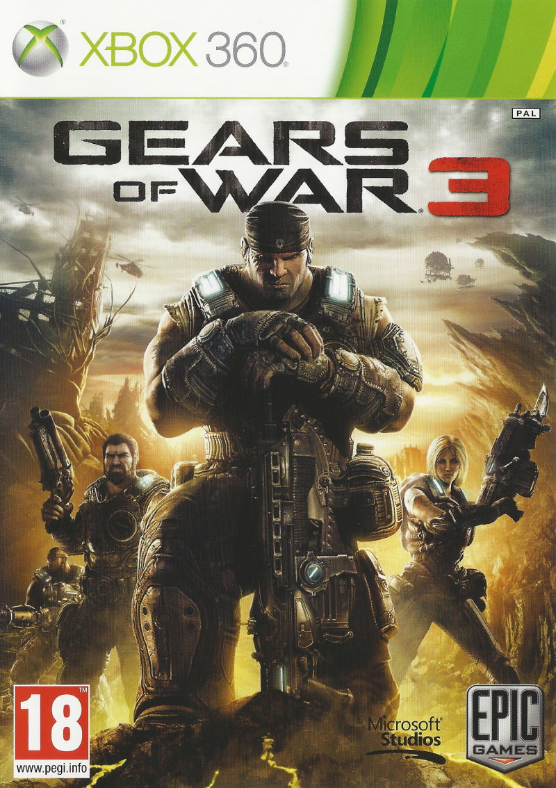 Gears of War 3 Xbox 360 Front Cover