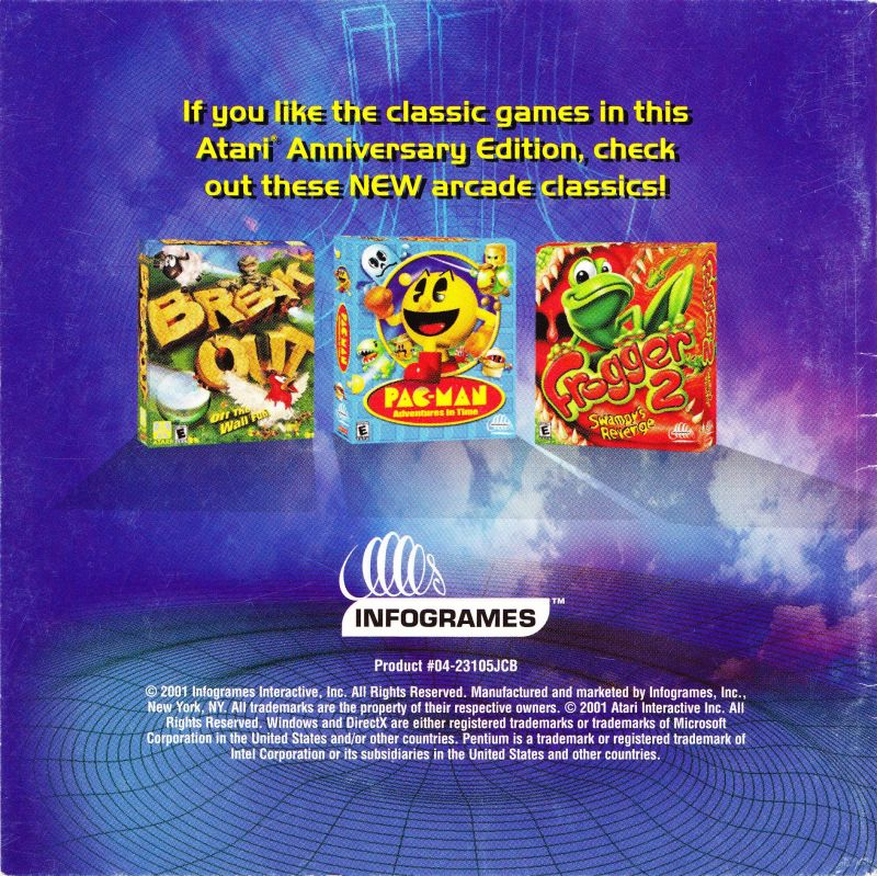 Atari Anniversary Edition Windows Other Jewel Case - Inside Left