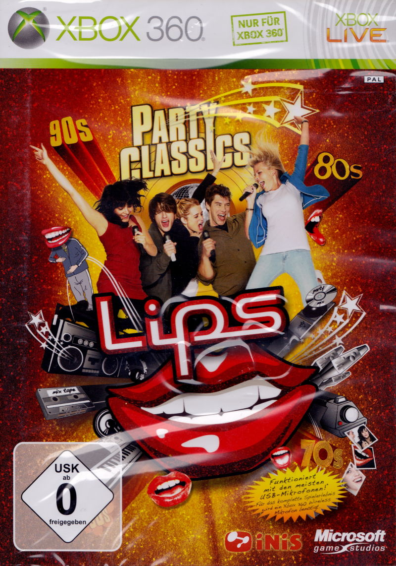 Lips: Party Classics Xbox 360 Front Cover