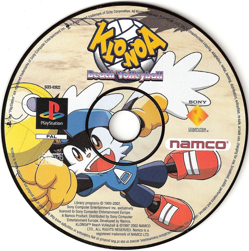 Klonoa Beach Volleyball PlayStation Media