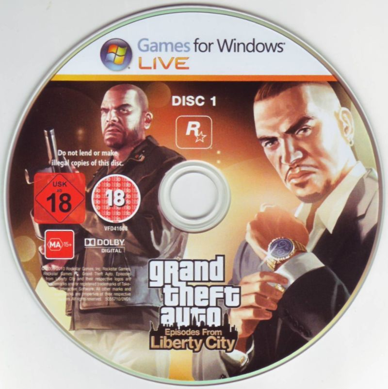 Grand Theft Auto: Episodes from Liberty City Windows Media Disc 1