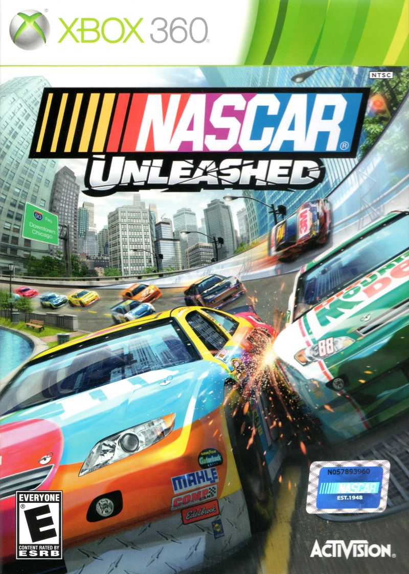 NASCAR: Unleashed Xbox 360 Front Cover