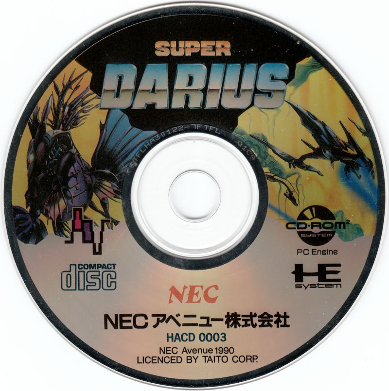 Darius+ TurboGrafx CD Media