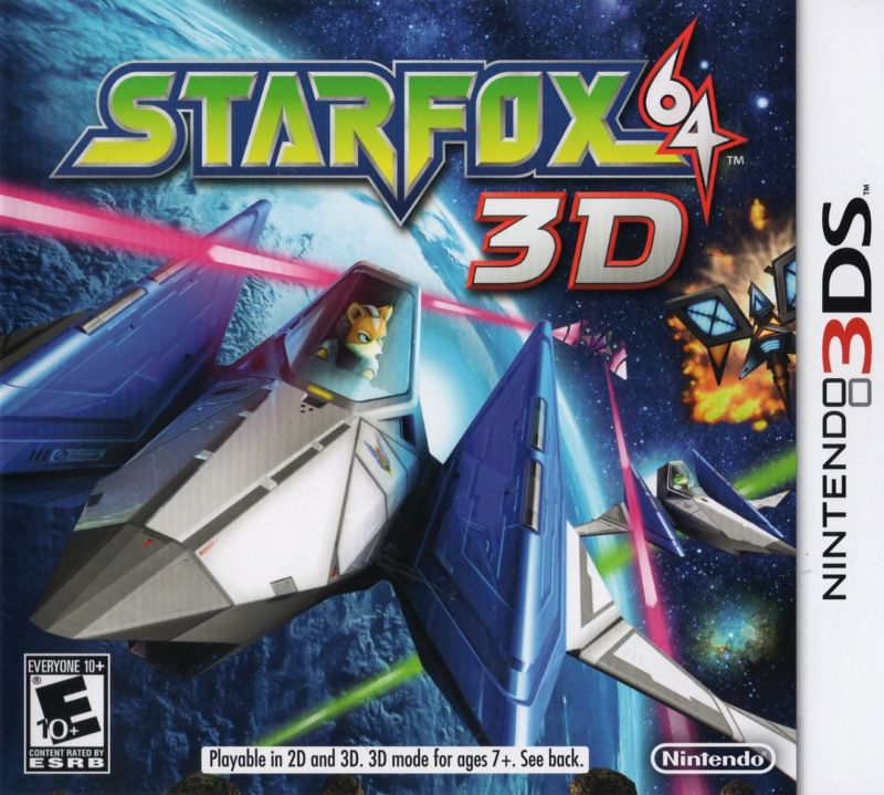 Star Fox 64 3D Nintendo 3DS Front Cover
