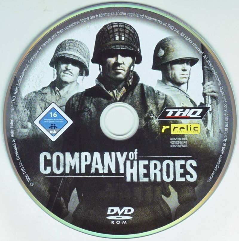 Company of Heroes (Gold Edition) Windows Media Company of Heroes Disc