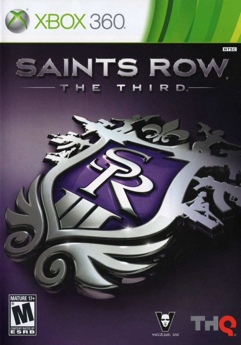 Saints Row: The Third Xbox 360 Front Cover