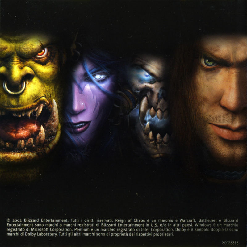 Warcraft III: Reign of Chaos (Collector's Edition) Windows Other Jewel Case of Game Disc - Inlay
