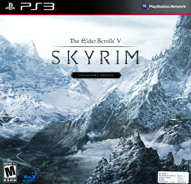 The Elder Scrolls V: Skyrim (Collector's Edition) PlayStation 3 Front Cover
