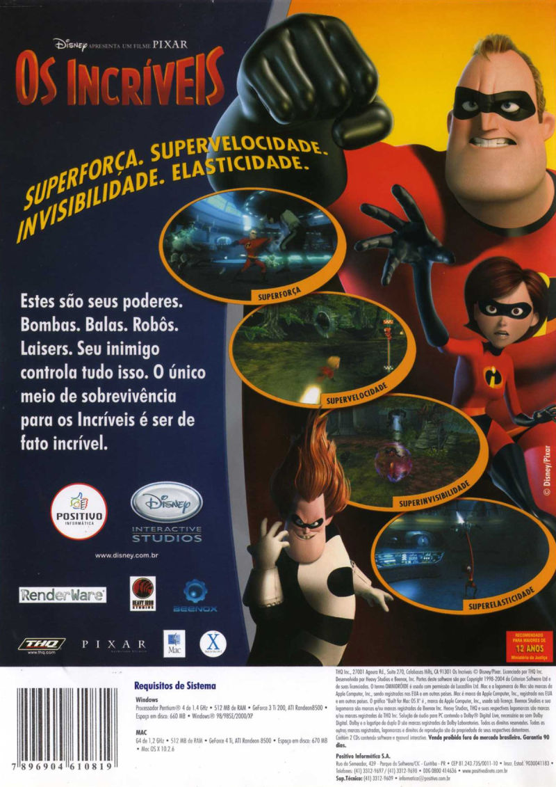 The Incredibles Macintosh Back Cover