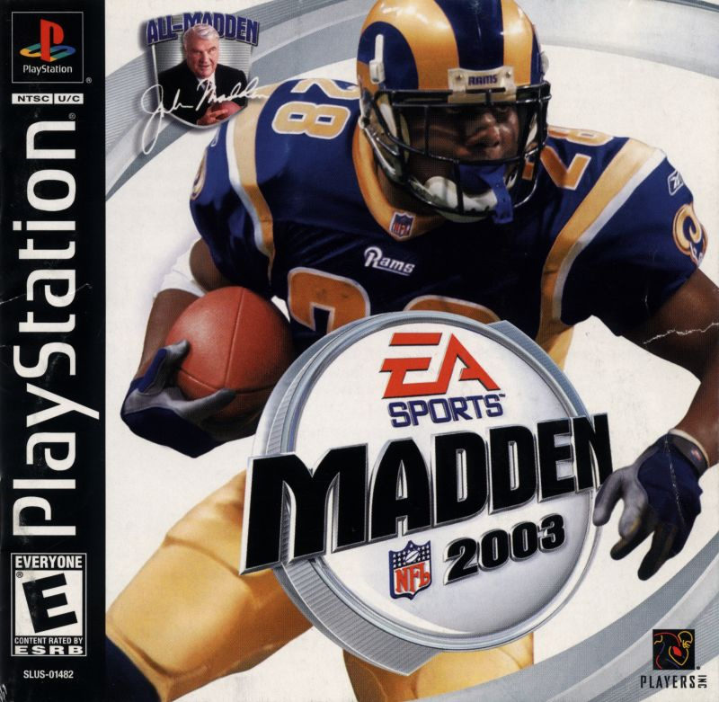 Madden NFL 2003 PlayStation Front Cover