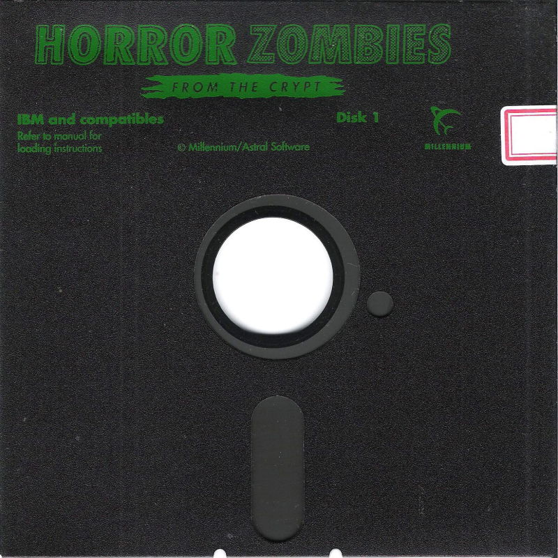 Horror Zombies from the Crypt DOS Media Disk (1/3) -- EGA & VGA
