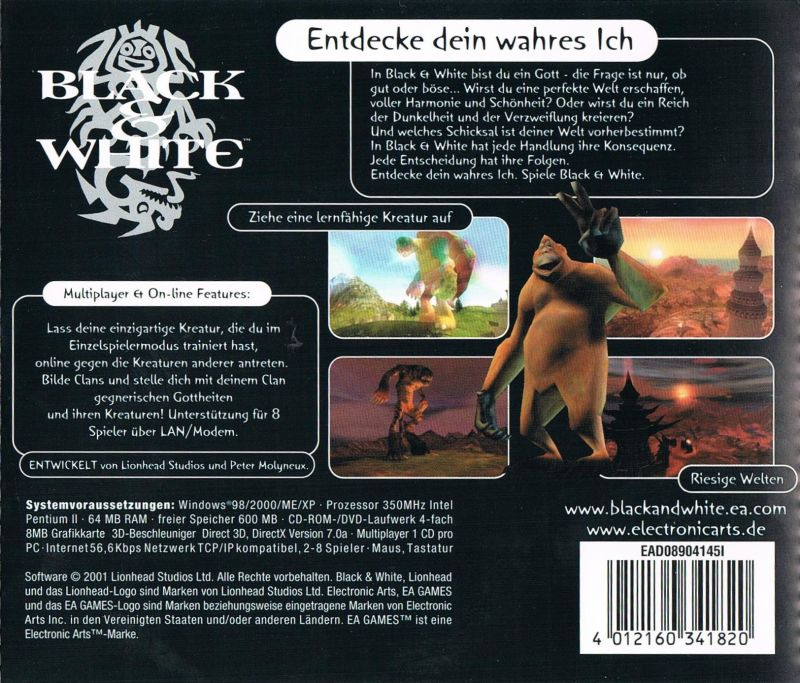 Black & White Windows Other Jewel Case - Back Cover