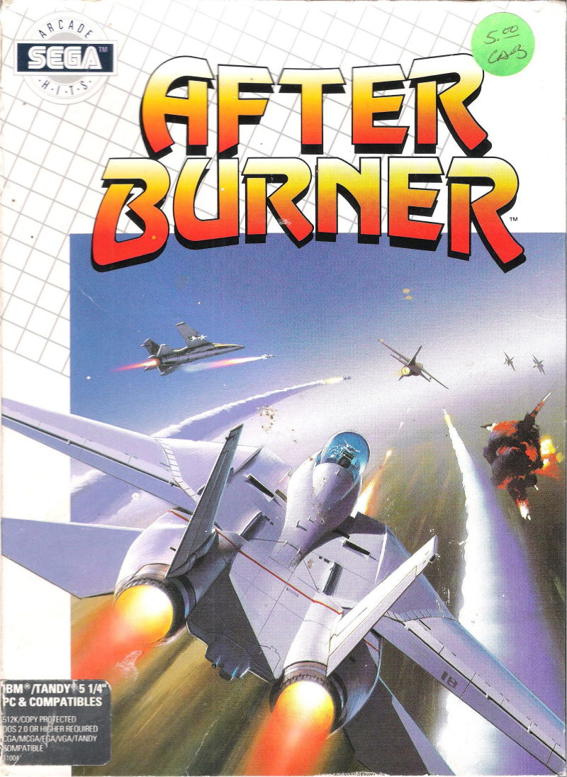 After Burner II DOS Front Cover