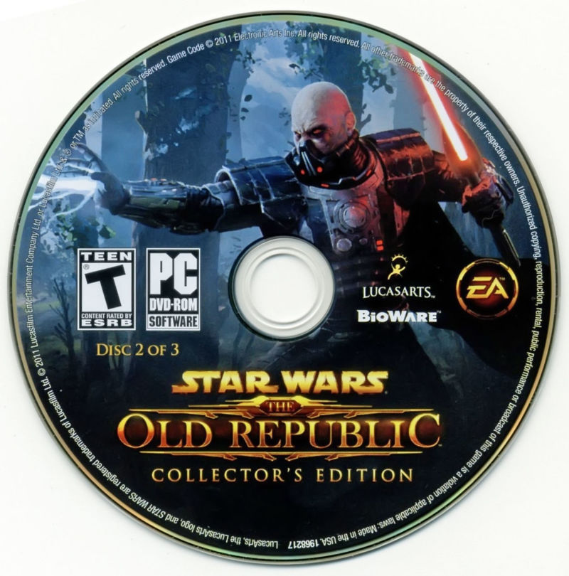 Star Wars: The Old Republic (Collector's Edition) Windows Media Disc 2