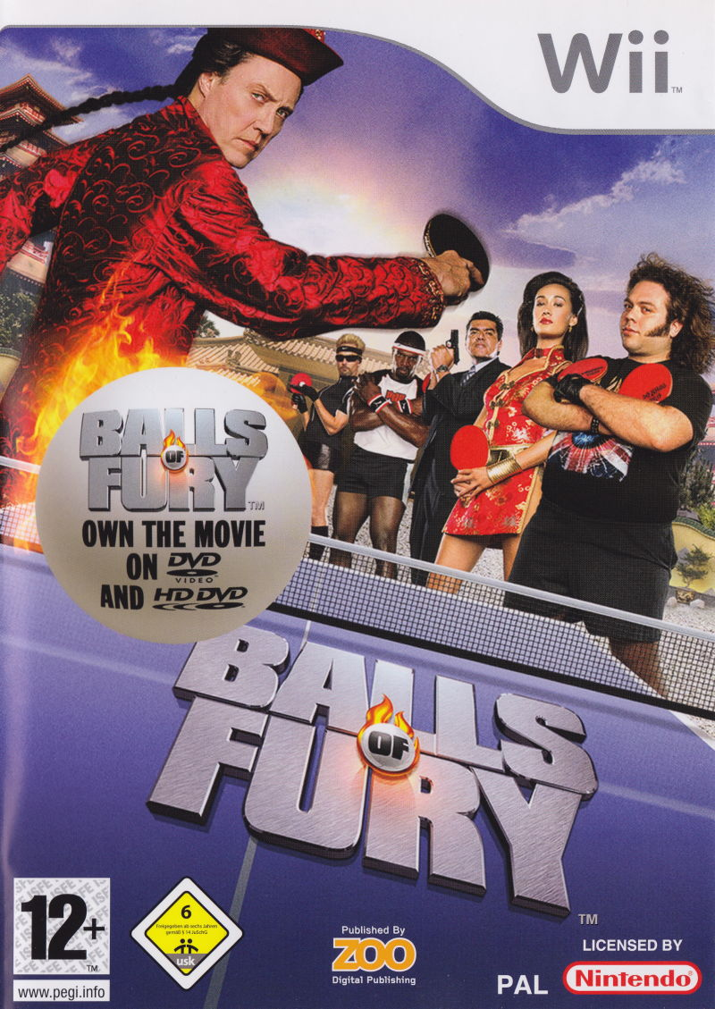 Balls of Fury Wii Front Cover