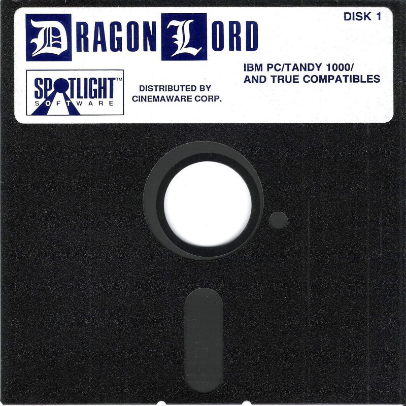 "Dragon Lord DOS Media 5.25"" Disk (1/4)"