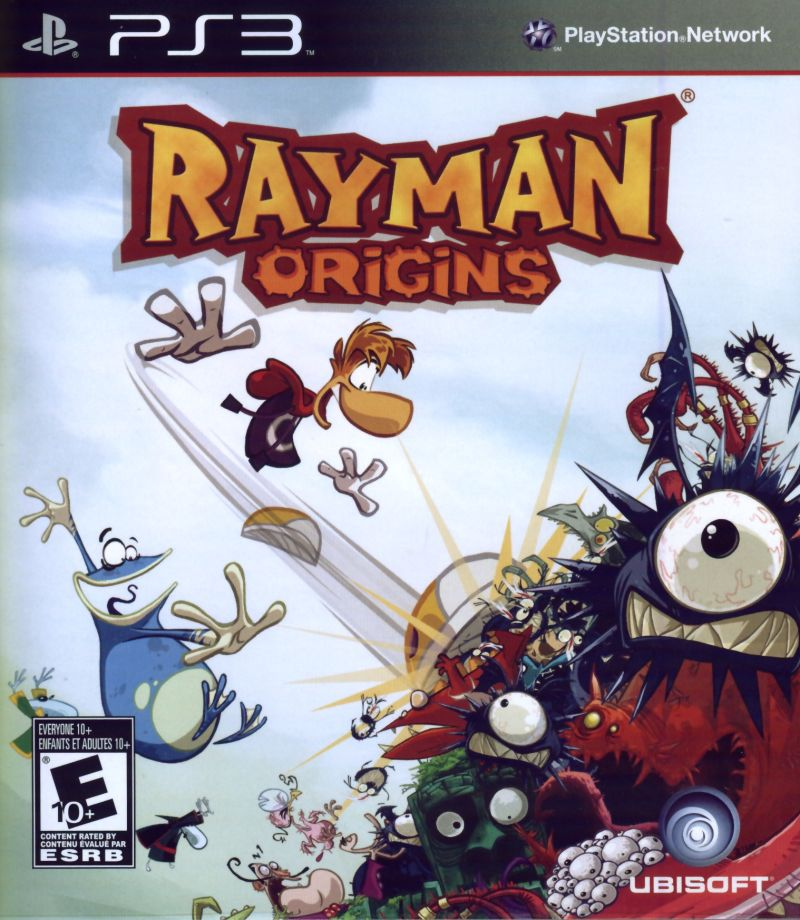 Rayman Origins PlayStation 3 Front Cover
