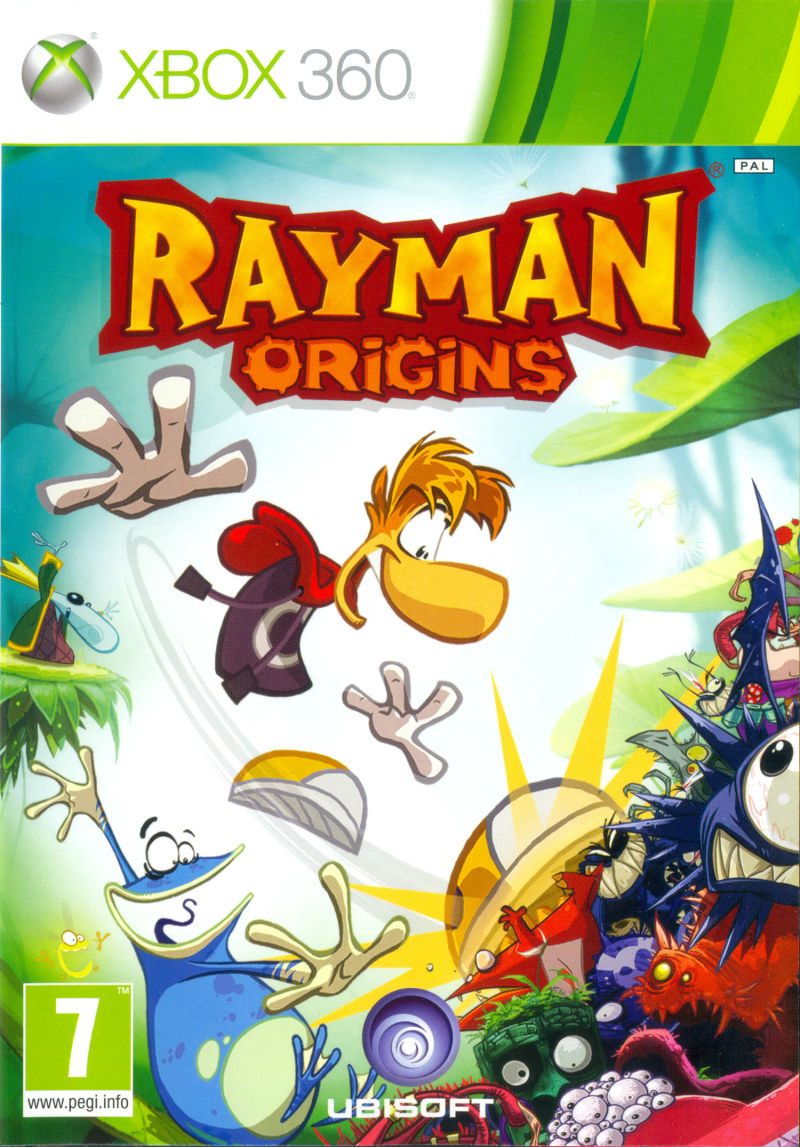 Rayman Origins Xbox 360 Front Cover