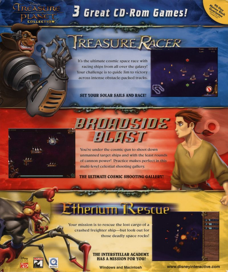 Disney's Treasure Planet Collection Macintosh Back Cover