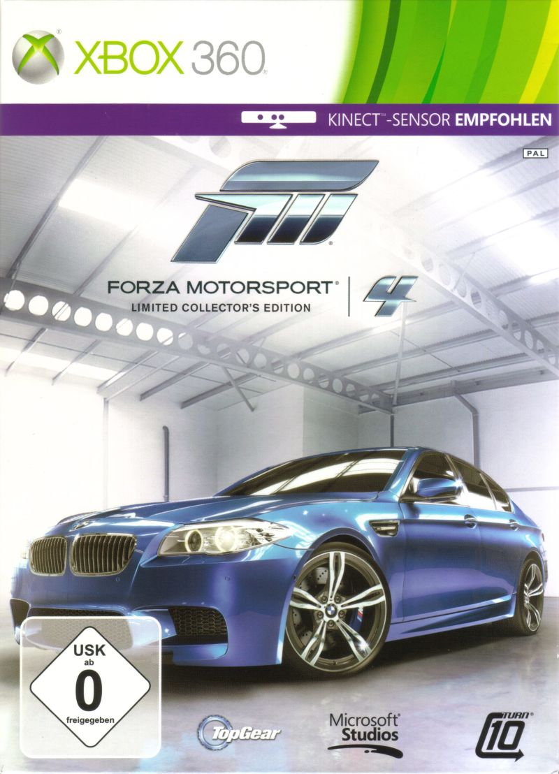 Forza Motorsport 4 (Limited Collector's Edition) Xbox 360 Front Cover