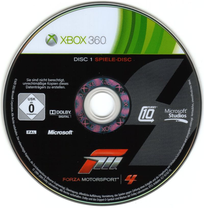 Forza Motorsport 4 (Limited Collector's Edition) Xbox 360 Media Disc 1/2