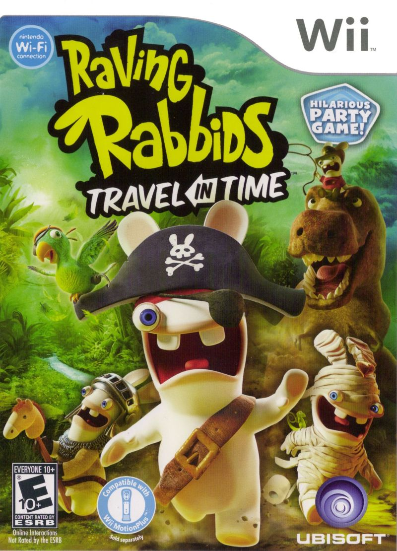 Raving Rabbids: Travel in Time Wii Front Cover